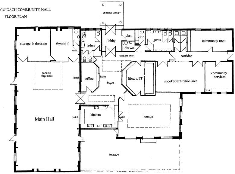 coigach community hall floorplan